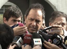"""DECLARACIONES: """"Me preocupan los que plantean el caos"""", manifestó Scioli"""