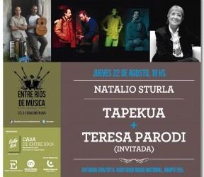 Será el jueves en el Auditorio de Radio Nacional: Teresa Parodi acutará en una nueva edición del ciclo Entre Ríos de Música