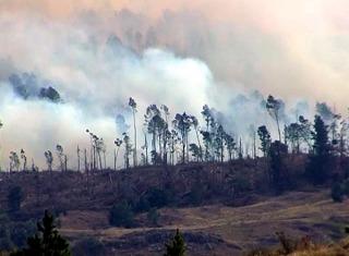 INCENDIOS EN CÓRDOBA: Queda un solo foco activo en los Horillos, en el Valle de Traslasierra