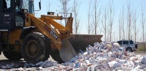 CONTRABANDO: La AFIP destruyó más de dos millones de atados de cigarrillos adulterados