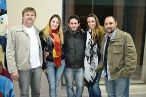 El director y los actores estuvieron presentes: Este domingo se estrenó el largometraje Cuando las hojas tiemblan en la Casa de la Cultura