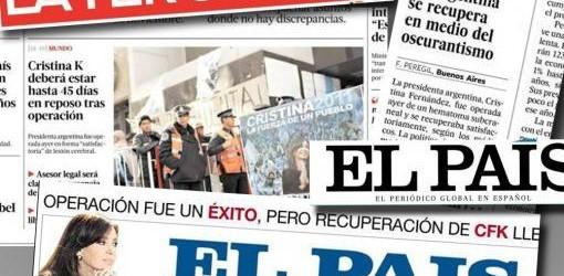 LA SALUD DE CRISTINA : La prensa internacional destacó en sus portadas la recuperación de la Presidenta