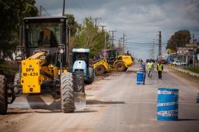 La obra es encarada por Vialidad junto a la comuna: La provincia trabaja en la repavimentación y ensanche del acceso a San Benito