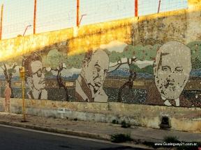 Murales ilustrados: Construyen en Entre Ríos uno de los murales de mosaico más grandes del país