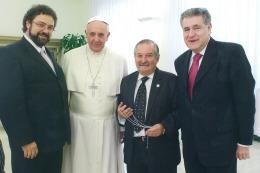 EN EL VATICANO: El Papa recibió a dirigentes de la comunidad judía argentina