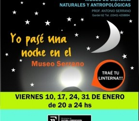 Todos los viernes de enero: Invitan a explorar el Museo de Ciencias Naturales con linternas