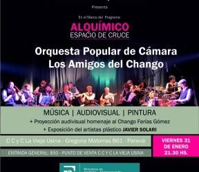 """Alquímico, espacio de cruce: La Orquesta Popular de Cámara """"Los Amigos del Chango"""" en Paraná"""