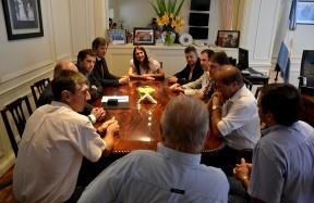 Los acompañaron funcionarios provinciales: Productores citrícolas se reunieron con la ministra de seguridad de la Nación