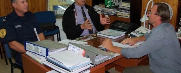 CONSCRIPTO BERNARDI:  Boxler y Pérez se reunieron para hablar de temas relacionados con la prevención de los delitos