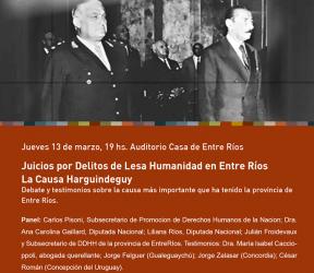 Desde el jueves 13: Se inician las actividades del Mes de la Memoria en la Casa de Entre Ríos