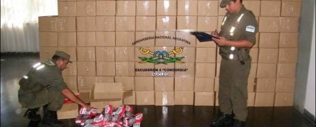 ENTRE RÍOS:  Gendarmería incautó 128.500 atados de cigarrillos transportados en un camión