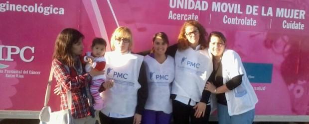 SAUCE DE LUNA: Se sumo a la campaña nacional de lucha contra  el cáncer de útero y cáncer de mamas.