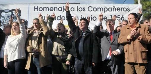 JOSÉ LEÓN SUÁREZ: El PJ recordó los fusilamientos de 1956 con críticas al massismo