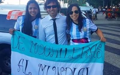 YA RECORRIERON VARIAS DE LAS SEDES DE LA COMPETENCIA FUTBOLÍSTICA  Las mochileras de Concordia cumplieron su objetivo y viven el mundial en Brasil