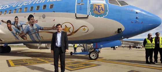 Se presentó el avión del seleccionado argentino