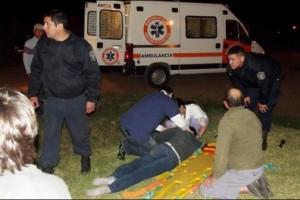 FEDERAL: Un adolescente resultó con graves lesiones al chocar con su moto a un automóvil