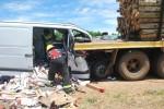 Accidente y milagro en la autovía 14