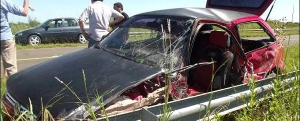 EL ACCIDENTE SE PRODUJO A UNOS 20 KILÓMETROS AL SUR DE FEDERAL: Un automóvil chocó con un ómnibus sobre la ruta nacional 127