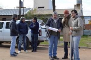 PARA LA CONSTRUCCIÓN DE LA NUEVA ESCUELA: Arquitectura de la provincia realizo trabajos en la ciudad de Federal
