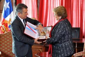 """Urribarri, Bordet y Bahl fueron recibidos por la presidenta de Chile:  """"El encuentro con Bachelet ratifica la importancia de Entre Ríos en la región"""", destacó Urribarri"""