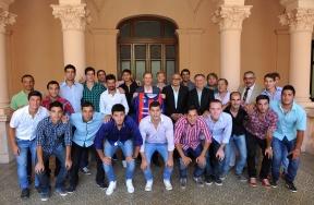 Reunión en la Casa de Gobierno: Bordet recibió y felicitó a los integrantes del club Depro por su ascenso en el fútbol nacional
