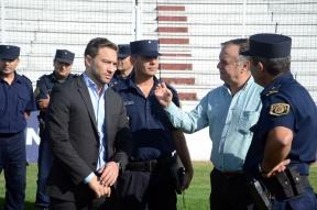 Urribarri y Gómez recorrieron el estadio Presbítero Grella: Ultimaron detalles del operativo de seguridad para el partido Patronato-River