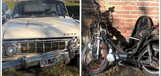 TRÁGICO SUCESO EN CONSCRIPTO BERNARDI: Un adolescente perdió la vida tras chocar frontalmente con su moto