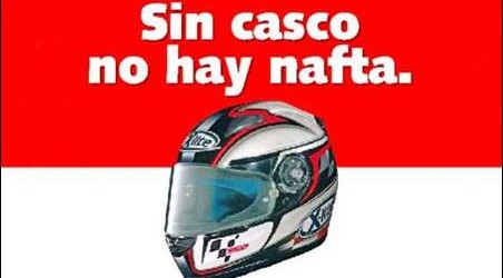 EN ESTACIONES DE SERVICIO: Prohibirán el expendio de combustibles a motociclistas que no lleven el casco protector