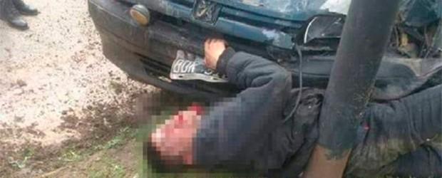 Un ladrón escapó herido:  Carnicero aplastó con su auto a delincuente que había intentado asaltarlo
