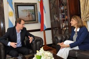 Bordet recibió a la presidenta del STJ:  Una nueva unidad carcelaria y mayor control de prisiones domiciliarias en la agenda del Gobierno y el Poder Judicial