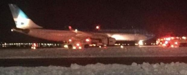 Un avión de Aerolíneas sufrió explosión en el aeropuertos de Nueva York