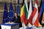 A 60 AÑOS DE LOS TRATADOS FUNDACIONALES: Golpeados por el Brexit, los líderes de la Unión Europea se comprometieron a mantener la unidad