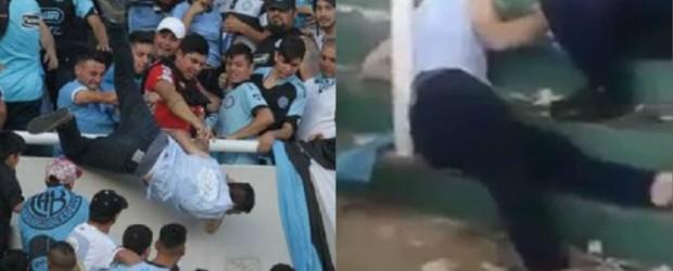 VIOLENCIA EN EL FÚTBOL:  El hincha que fue tirado desde la tribuna de Belgrano tiene muerte cerebral
