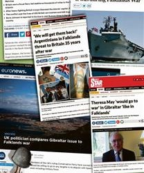 REPERCUSIÓN DE PRENSA BRITÁNICA POR 2 DE ABRIL:  Inglaterra amenazó a España con guerra como Malvinas por Gibraltar