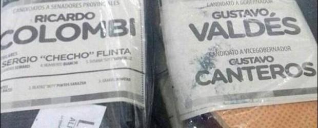 Corrientes: denuncian que Colombi reparte alpargatas con sus boletas