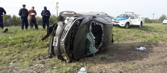 Un automovilista perdió la vida en un despiste y vuelco en la ruta nacional 127