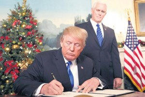 El presidente de Estados Unidos anunció que su país reconoce a Jerusalén como la capital de Israel Trump provoca un cataclismo en Medio Oriente