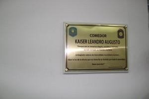 El Gobierno de Entre Ríos reconoció a Leandro Kaiser con su nombre en el comedor de la escuela Dr. Salvador Maciá
