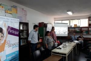 SENADO JUVENIL: Gran convocatoria en la presentación del Senado Juvenil en el departamento Federal