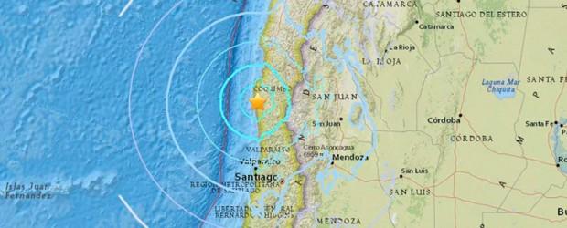 Esta mañana: Un fuerte sismo sacudió varias regiones de Chile y se sintió en Argentina