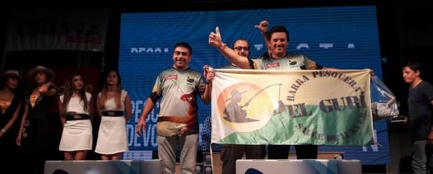 """GANADORES DE LA ZONA 7: La Peña """"El Gurí"""" de Sauce de Luna obtuvo el primer premio en la zona 7 del Mundial de Pesca 2018 en Goya."""