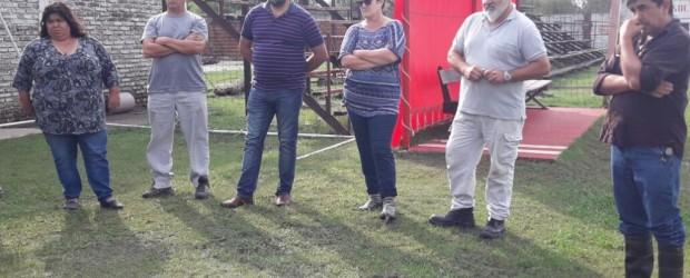 Encuentro Institucional del Club Las Flores con la Senadora Nancy Miranda, el intendente Gerardo Chapino y la Liga de Fútbol.