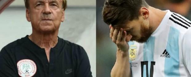 """El entrenador de Nigeria: """"Tenemos una buena chance de ganarle a Argentina"""""""