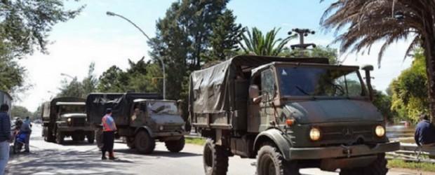 Junto a la Policía, el Ejército recorrió las calles de una ciudad entrerriana