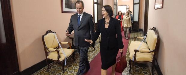 Bordet expuso ante la embajadora de Eslovenia las ventajas de invertir en Entre Ríos