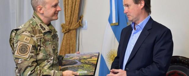Bordet recibió al jefe del Ejército Argentino que está de visita en Paraná