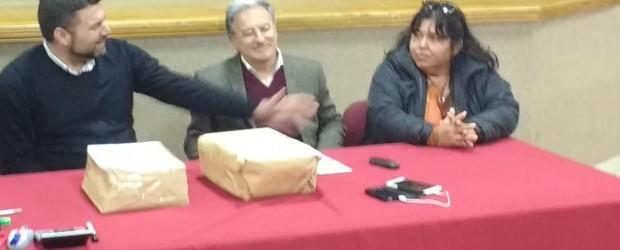 Benedetto, Miranda y Chapino recorrieron obras que se realizan en Federal con recursos provinciales