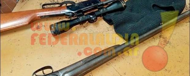 4 LOS APREHENDIDOS: Recuperaron las armas robadas en una propiedad rural de colonia San Lorenzo