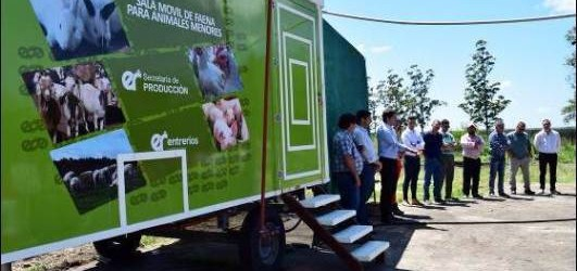 La escuela Agrotécnica  Antequeda recibió una sala de faena móvil