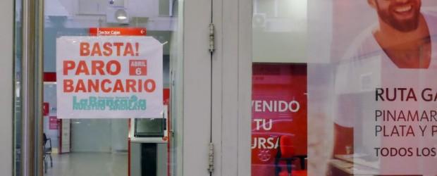 Comenzó el paro bancario en las entidades públicas